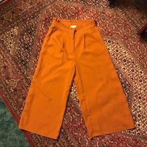 Brick Orange Straight Leg Crop Pants